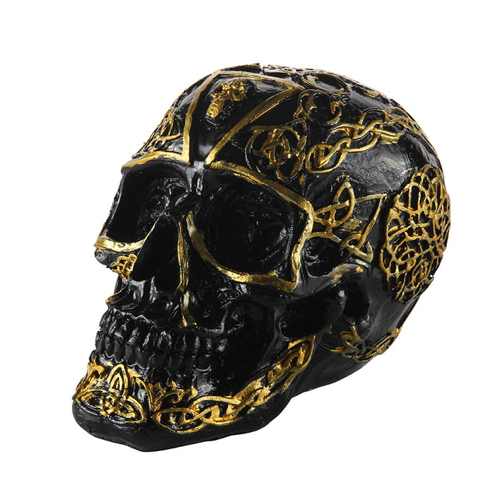 Bump pattern skull ornament