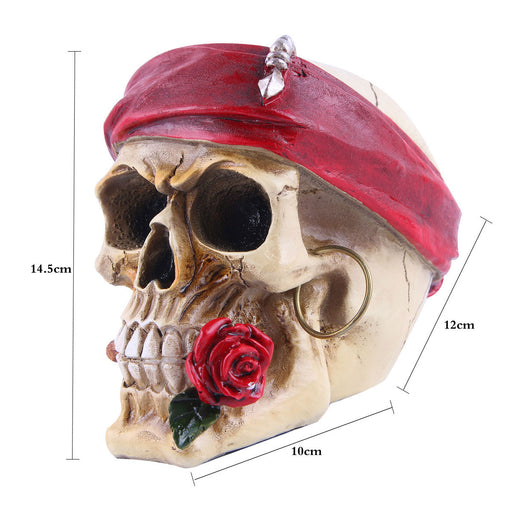 Resin skull Halloween decoration ornament