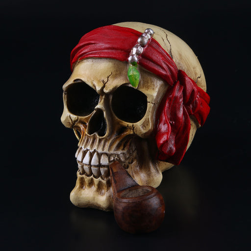 Resin skull Halloween home ornament