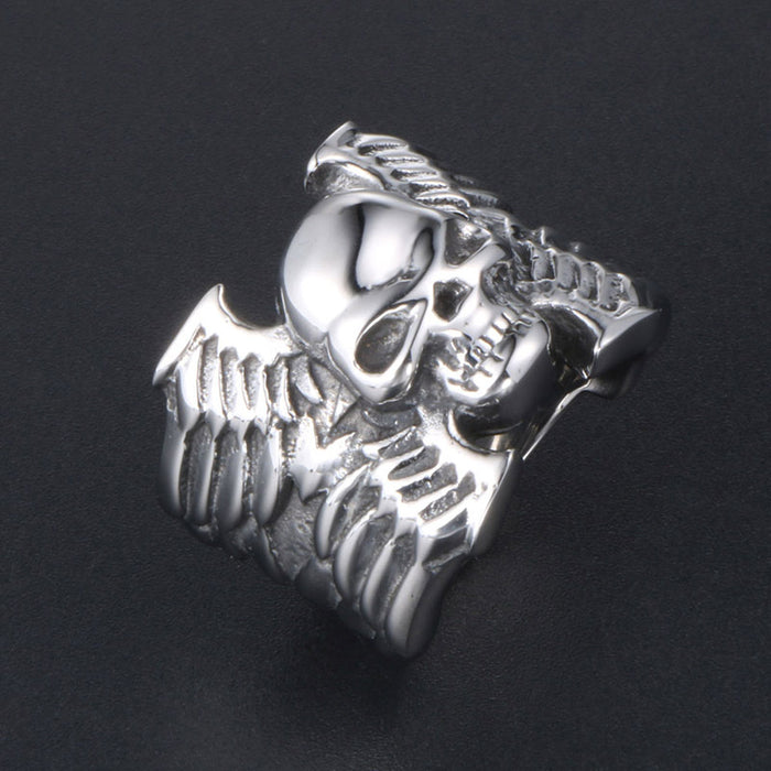 Retro fashion stainless steel domineering skull ring
