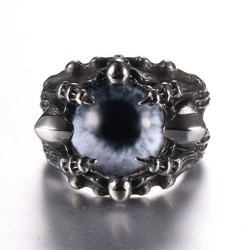 Copy of Gothic Trendy Earthsplitter Eyes Men's Titanium Steel Ring Demon Eyes