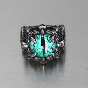 Gothic Trendy Earthsplitter Eyes Men's Titanium Steel Ring Demon Eyes