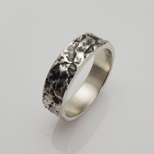 STERLING SILVER BARK BAND