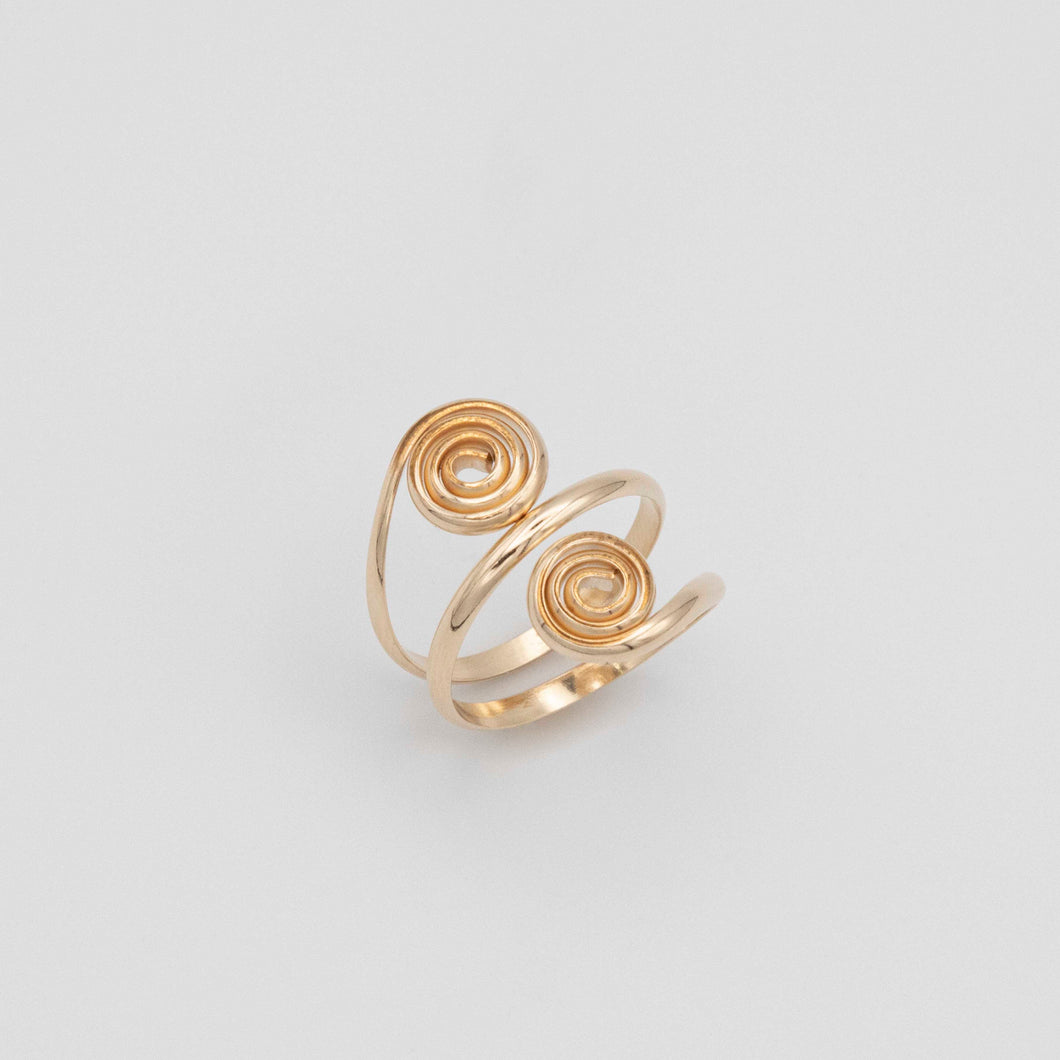 GOLD FILLED SPIRAL RING