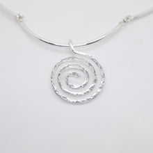 Load image into Gallery viewer, STERLING SPIRAL CHOKER