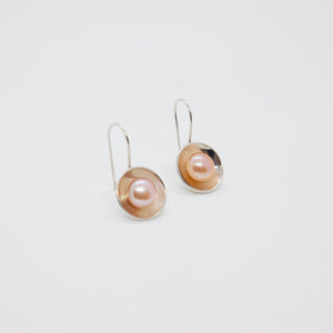 STERLING CUP EARRINGS WITH PEARLS
