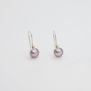 BEZEL PEARL EARRINGS