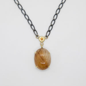 RUTILATED QUARTZ PENDANT