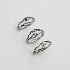 STERLING SMALL MULTI-TWIG GEM RING