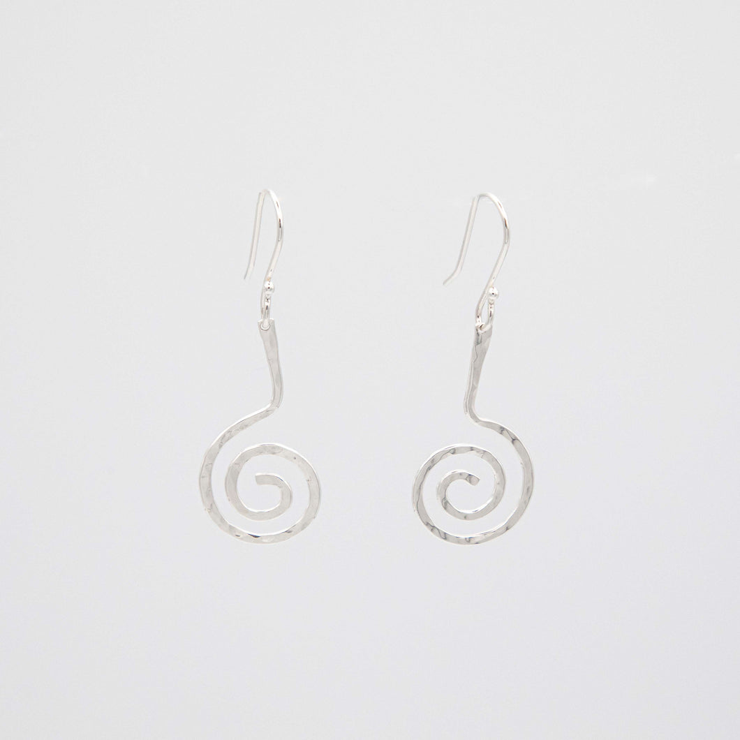 SMALL FORGED SPIRAL EARRINGS