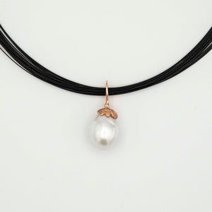 SOUTH SEA PEARL AND ROSE GOLD PENDANT
