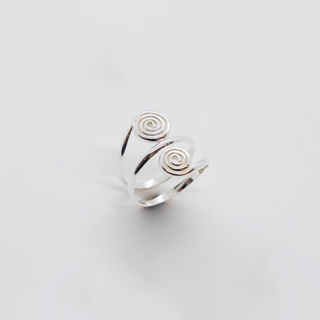STERLING ADJUSTABLE SPIRAL RING