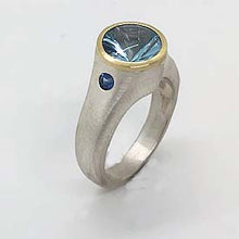 Load image into Gallery viewer, SPIRAL CUT AQUAMARINE RING