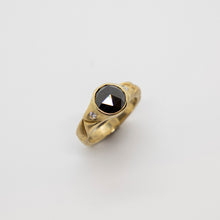 Load image into Gallery viewer, BLACK DIAMOND RING IN GOLD