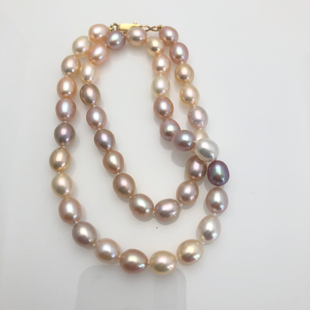 MULTI-COLOR FRESHWATER PEARL STRAND
