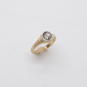 SALT AND PEPPER DIAMOND RING