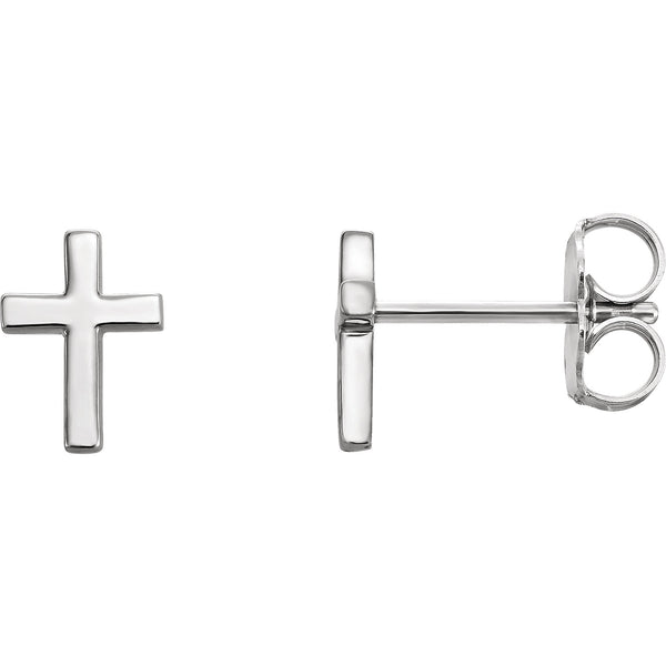 Classic Cross Earrings  - Sterling Silver