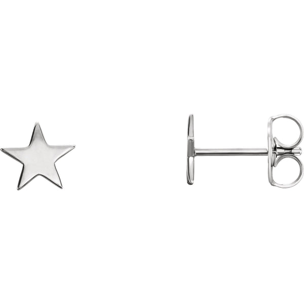 Star Stud Earrings - Sterling Silver