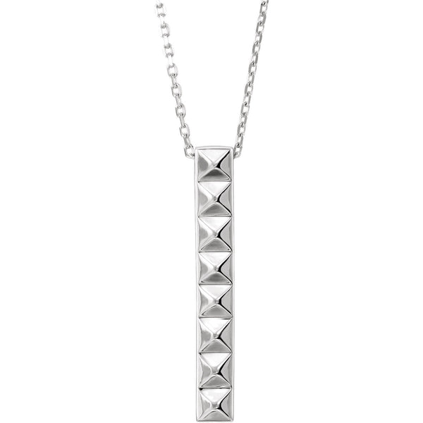 Vertical Pyramid Bar Necklace - 14K Gold
