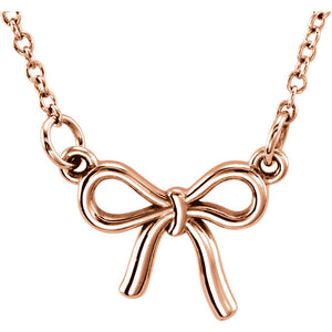 Tiny Posh Necklace Knotted Bow