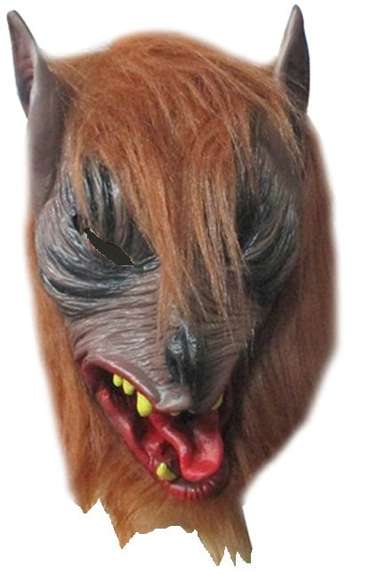 Full Head brown Werewolf Mask