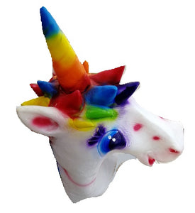 Full Head Colourful Unicorn Mask