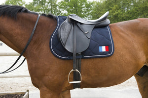 "TAPIS DE SELLE EQUITHÈME ""EQUESTRIAN TEAM WORLD"", FRANCE"