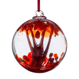 10 cm Spirit Ball - Red - Mother's Day Gift-Sienna Glass