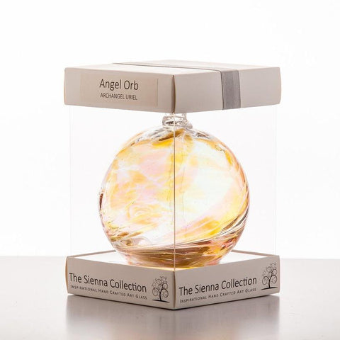 10cm Angel Orb - Uriel / Amber-Sienna Glass