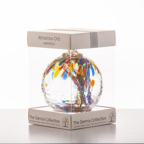 10cm Attraction Orb - Happiness-Sienna Glass