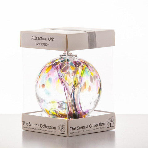 10cm Attraction Orb - Inspiration-Sienna Glass