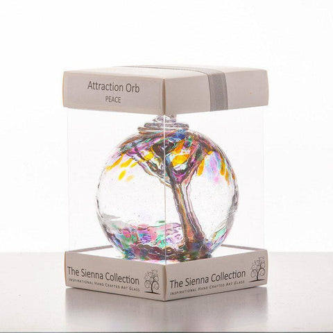 10cm Attraction Orb - Peace-Sienna Glass