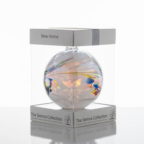 10cm Friendship Ball - New Home-Sienna Glass