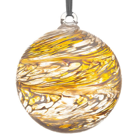 10cm Friendship Ball - Pastel Gold-Sienna Glass