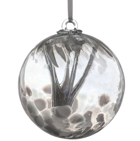 10cm Spirit Ball - Pastel Silver-Sienna Glass