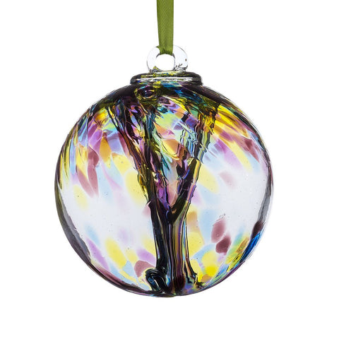 10cm Spirit Ball - Purple, Green & Blue-Sienna Glass