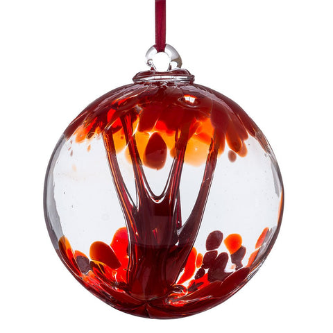10cm Spirit Ball -Red-Sienna Glass