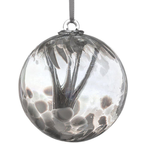 15cm Spirit Ball - Pastel Silver-Sienna Glass