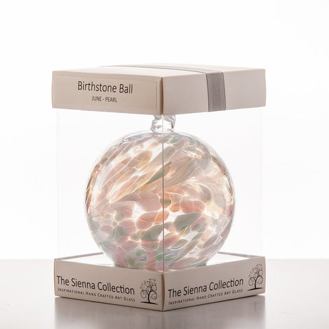 10cm Birthstone Ball - June/Pearl
