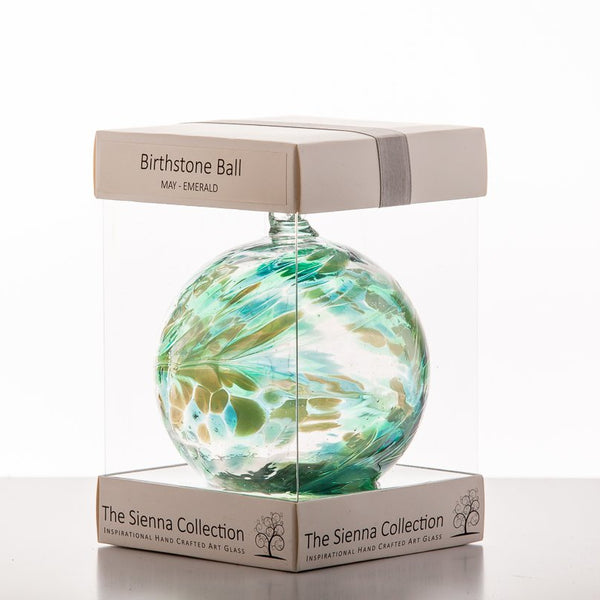 10cm Birthstone Ball - May/Emerald