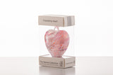8cm Friendship Heart - Pastel Pink-Sienna Glass