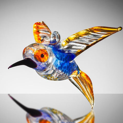 Large Bird - Hummingbird – Orange and Blue