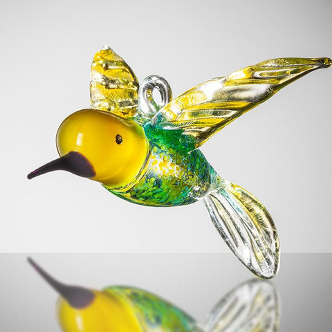 Large Bird - Hummingbird - Yellow and Blue