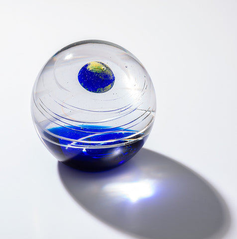 Galaxy Orb Paperweight - Earth