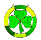 Hanging Stained Glass Shamrock