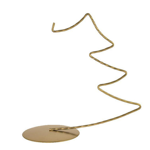 Display Stand - Medium Christmas Tree - Gold-Sienna Glass