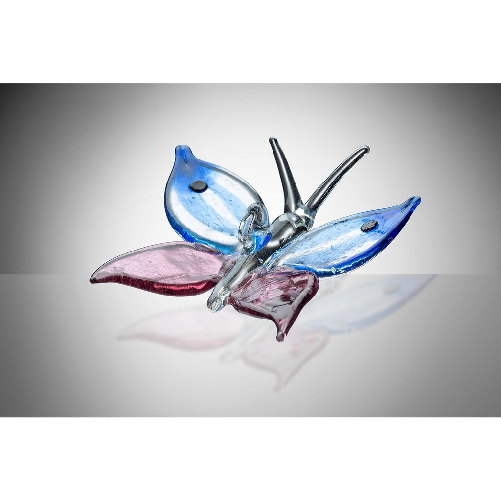 Butterfly – Blue and Purple-Sienna Glass