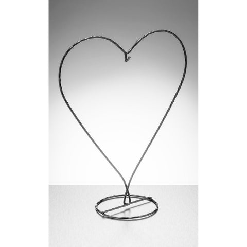 Heart Shaped Display Stand - Black-Sienna Glass