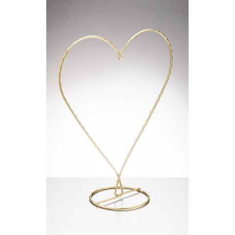 Heart Shaped Display Stand - Gold-Sienna Glass