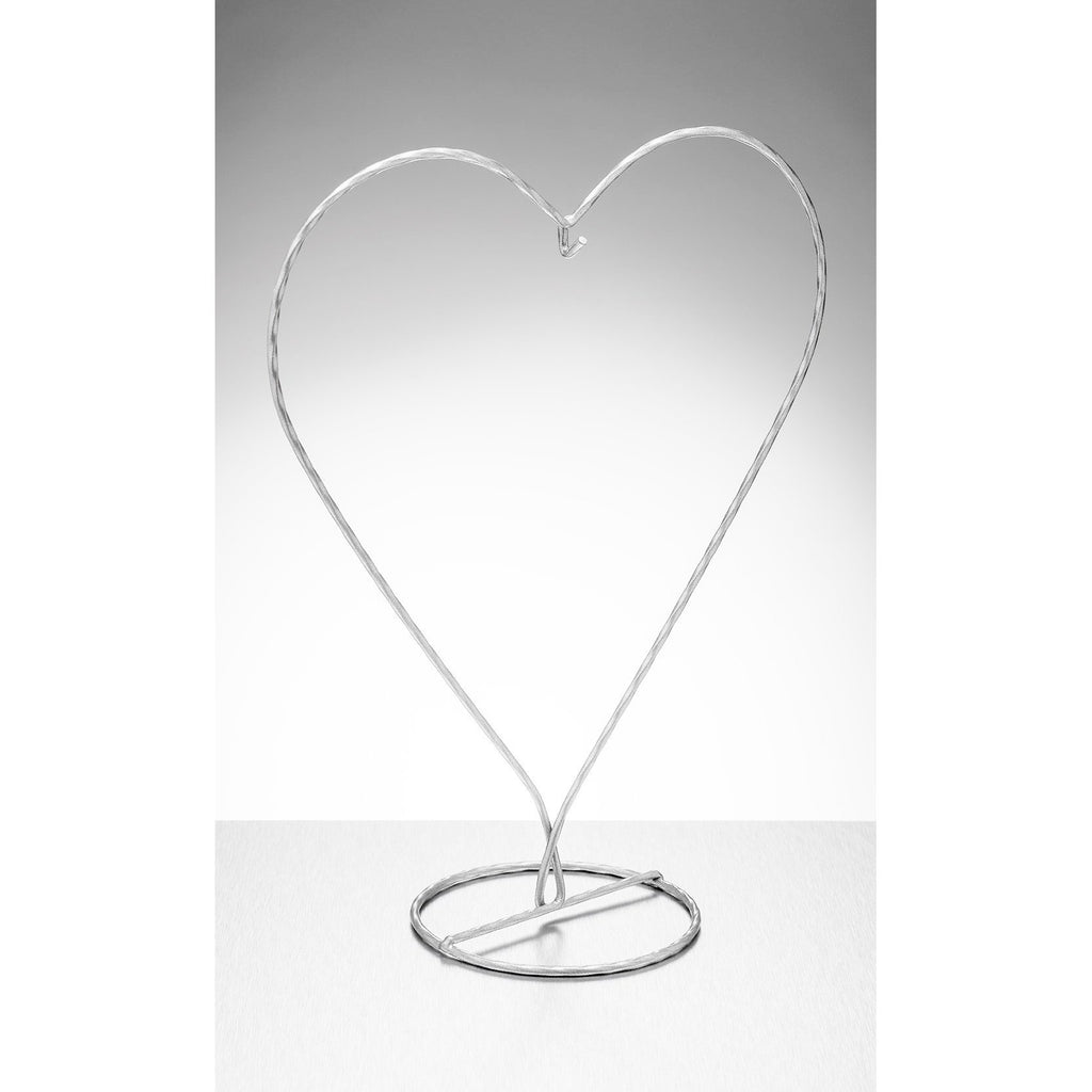 Heart Shaped Display Stand - Silver-Sienna Glass